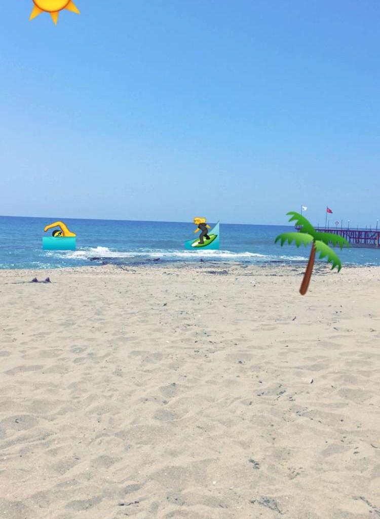 Et lille snapchat-værk fra stranden :)
