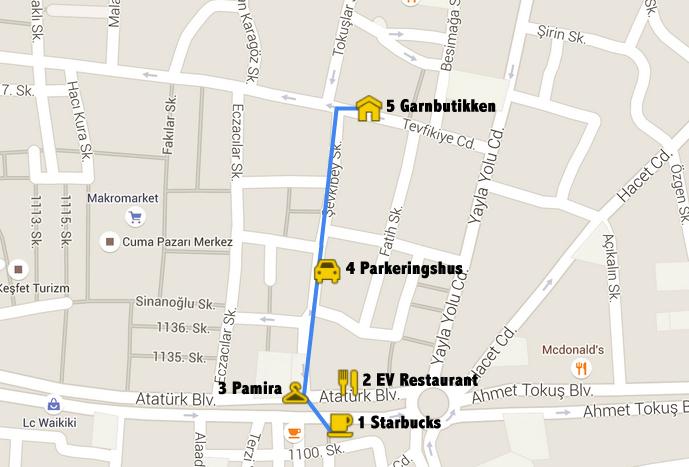 Garnbutik i Alanya kort