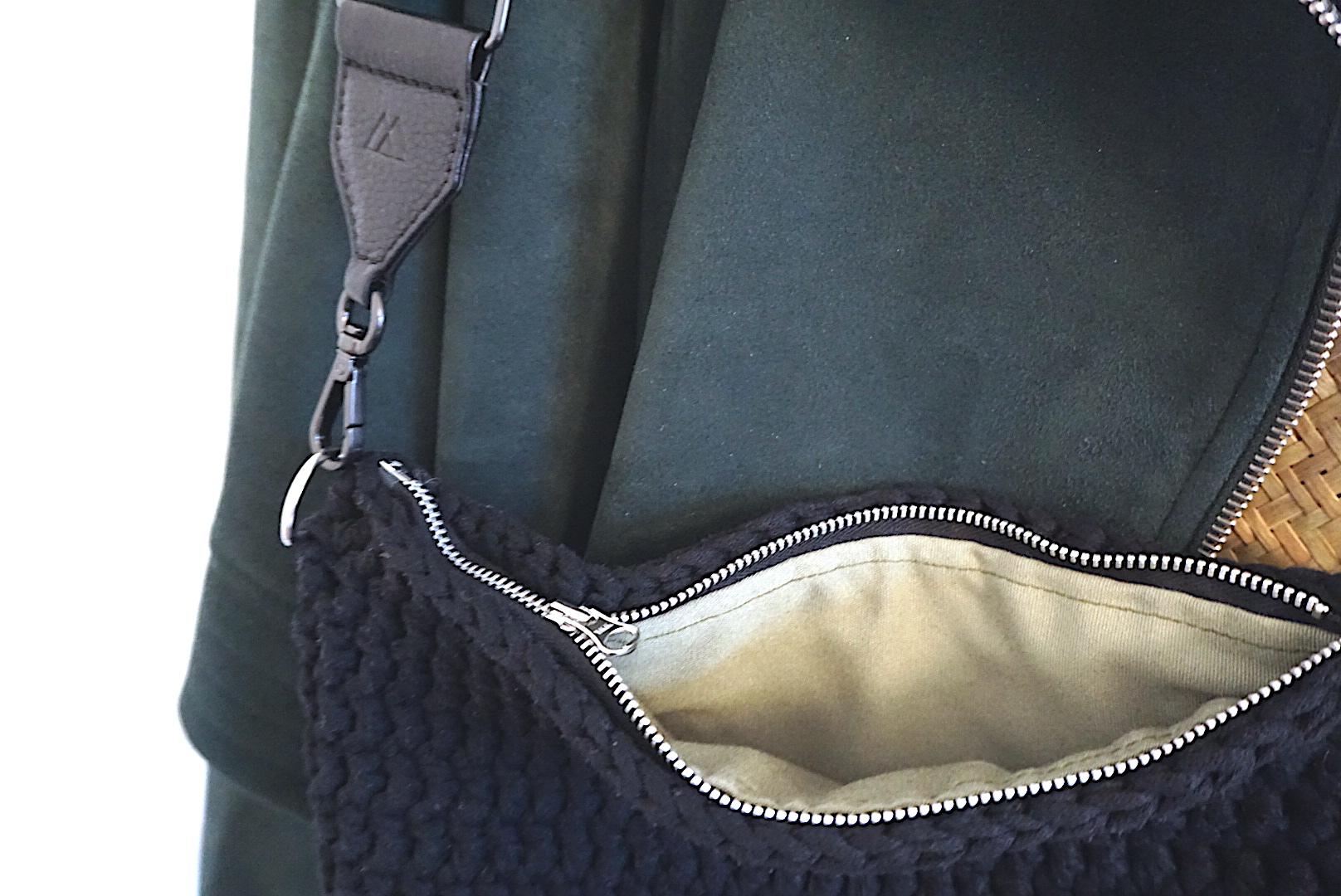 Hæklet taske - Mayflower båndgarn - Markberg Guitar strap
