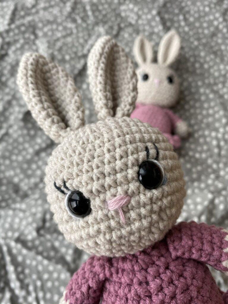 Hæklet kanin ansigt
